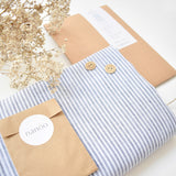 Kit Clarice Linen-Light Blue Stripes