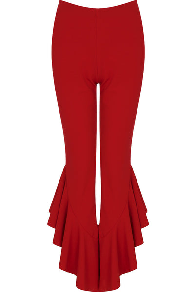 Draped Frill Cigarette Pants