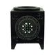 Brahmz Marble Tea Light Aroma Diffuser Burner Essential Oil Warmer / Aromatherapy - M-109 - Soapstone Candle Diffuser - Color Black Marble