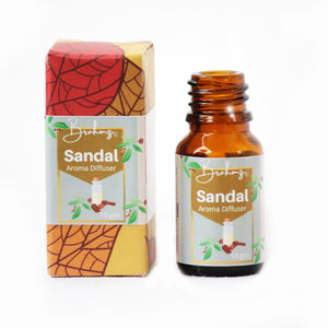 Diffusing Oil Aroma Oil Reed Oil By Brahmz- Sandal - Diffusing Oil / 10Ml - Aroma Oil - Aroma Oil Chandan Diffusing Oil Natural Oil Reed