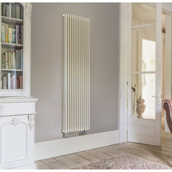 Bisque Finn Vertical Radiator - 1800mm H x 425mm W