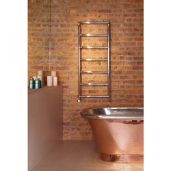 Bisque Pera Towel Rail Radiator - 800mm High x 500mm Wide