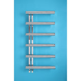 Bisque Chime Towel Rail Radiator - 1760mm High x 500mm Wide