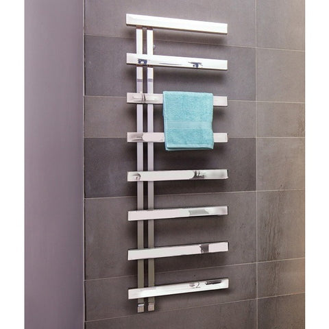 Bisque Alban Towel Rail Radiator - 1000mm High x 500mm Wide
