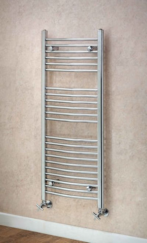 Argyll Curved Towel Rail - 1200mm H x 600mm W
