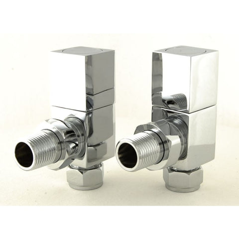 Essential Square Manual Angle Modern Radiator Valves
