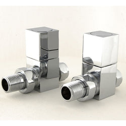 Essential Square Manual Straight Modern Radiator Valves