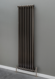 Cornel 2 Column Radiator - 1800mm H x 429mm W - Bare Metal Lacquer