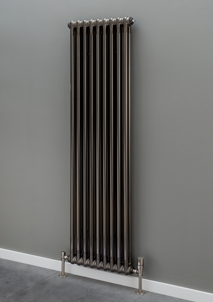 Cornel 3 Column Radiator - 1800mm H x 339mm W - Bare Metal Lacquer