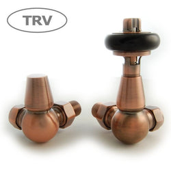 Enzo Thermostatic Traditional TRV Corner Radiator Valves