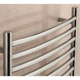 Lanark Curved Towel Rail - 1200mm H x 500mm W