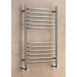 Lanark Curved Towel Rail - 1200mm H x 600mm W