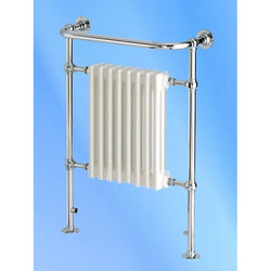 Newbury Traditional Towel Rail - 965mm High x 673mm Wide - Chrome