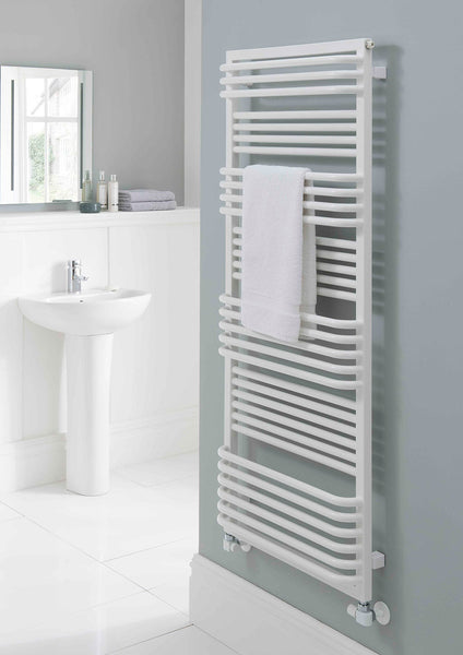 Poll Towel Rail - 1480mm H x 800mm W - White
