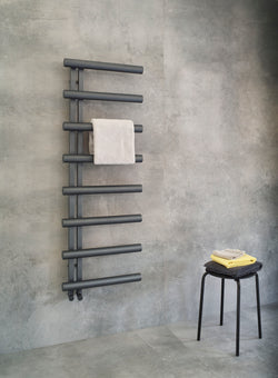 Bisque Chime Towel Rail Radiator - 1380mm High x 500mm Wide
