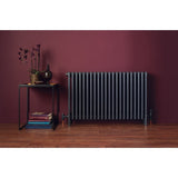 Bisque Classic 4 Column Radiator - 675mm High x 1038mm Wide