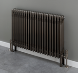 Cornel 3 Column Radiator - 600mm H x 1014mm W - Bare Metal Lacquer