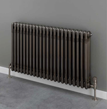 Cornel 3 Column Radiator - 600mm H x 834mm W - Bare Metal Lacquer