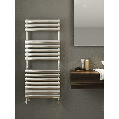 Cove Towel Rail - 1120mm High x 500mm Wide - Polished Stainless