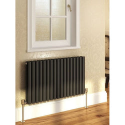 Cove Double Horizontal Radiator - 550mm High x 590mm Wide