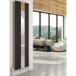 Cove Mirror Vertical Radiator - 1800mm High x 500mm Wide