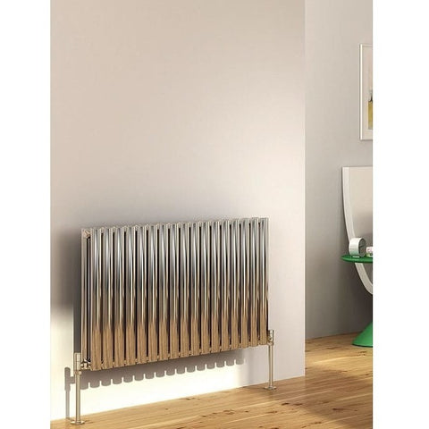 Cove Stainless Steel Double Horizontal Radiator - 600mm High x 1180mm Wide