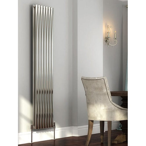 Cove Stainless Steel Double Vertical Radiator - 1800mm High x 413mm Wide