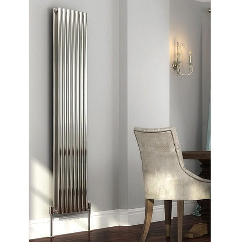 Cove Stainless Steel Single Vertical Radiator - 1800mm High x 413mm Wide