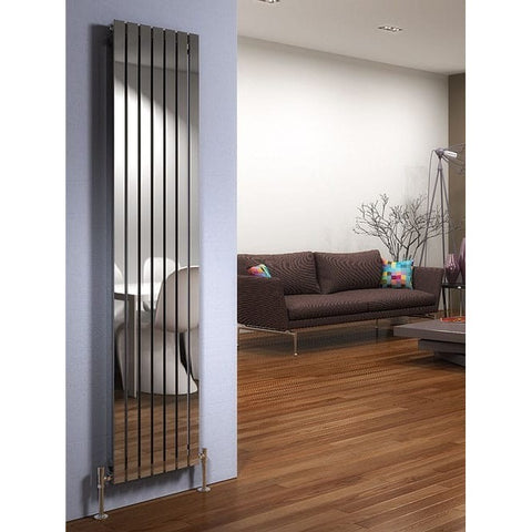 Delta Stainless Steel Vertical Radiator - 1600mm High x 410mm Wide
