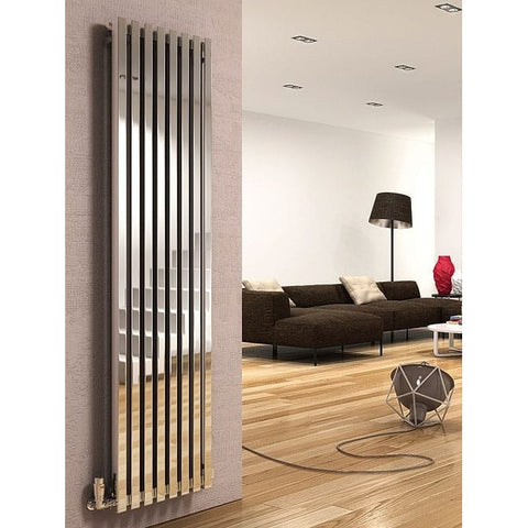Dune Stainless Steel Vertical Radiator - 2000mm High x 280mm Wide