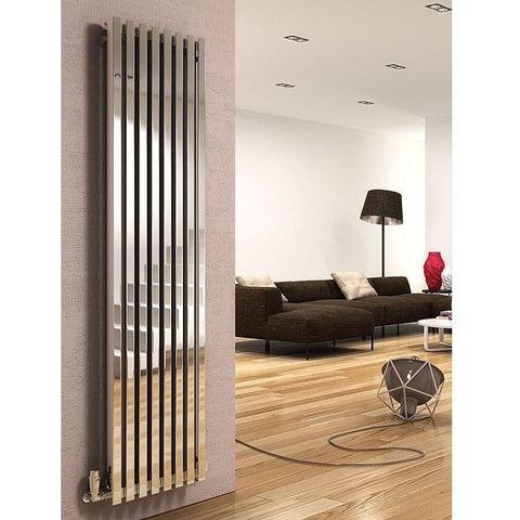 Dune Stainless Steel Vertical Radiator - 1800mm High x 280mm Wide