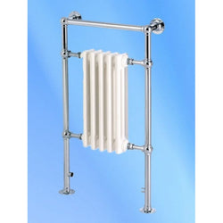 Twyford Traditional Towel Rail - 952mm High x 500mm Wide - Chrome