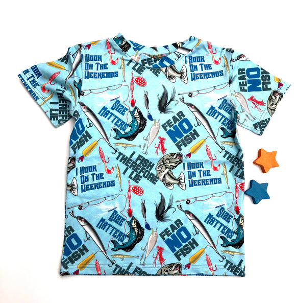 4-5y fishing short sleeve T-Shirt