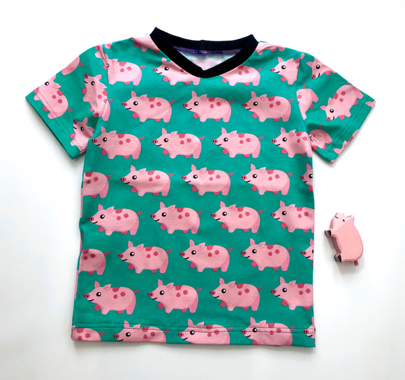 Organic pigs short sleeve T-Shirt