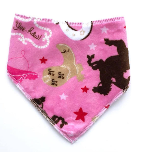 Bandana dribble bib - cowgirl plush