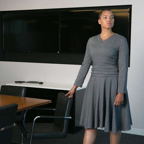 Work dress, office wear, corporate fashion, office style, empowering women, women's suiting