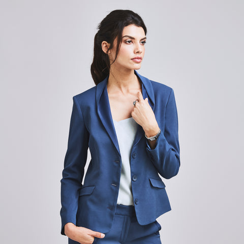 Women's blue suit for the office professional workwear for women