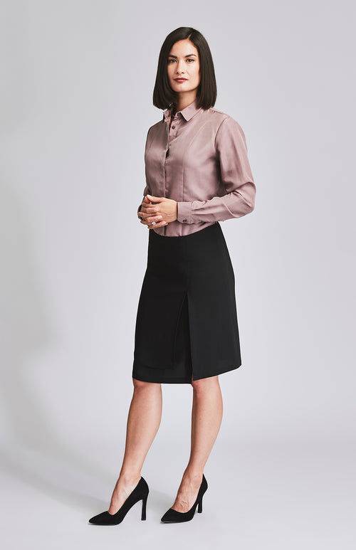 LEADER 2 ASYMMETRIC SKIRT BLACK