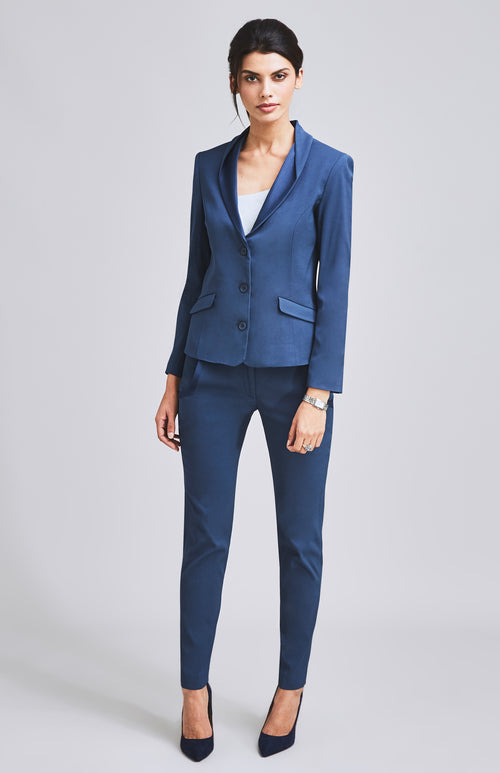 FORTITUDE TUXEDO TAILORED CIGARETTE TROUSER BLUE
