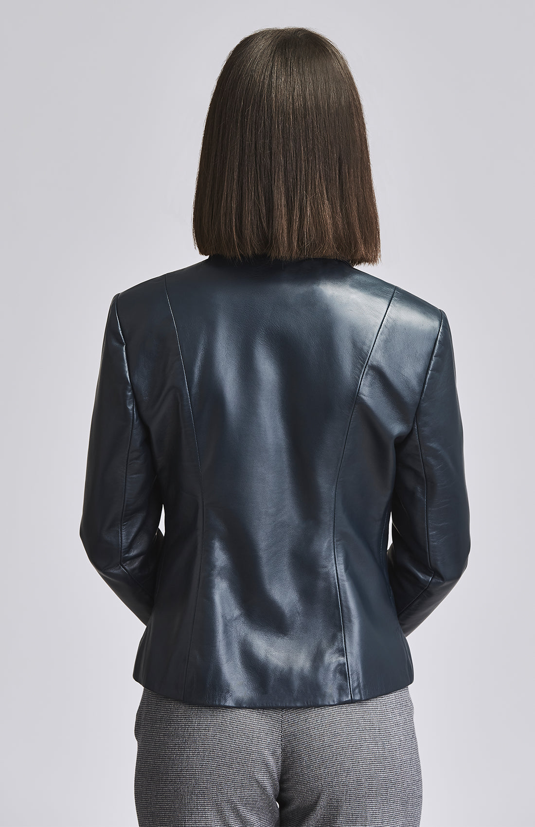 DEFIANT LEATHER BLAZER BLUE