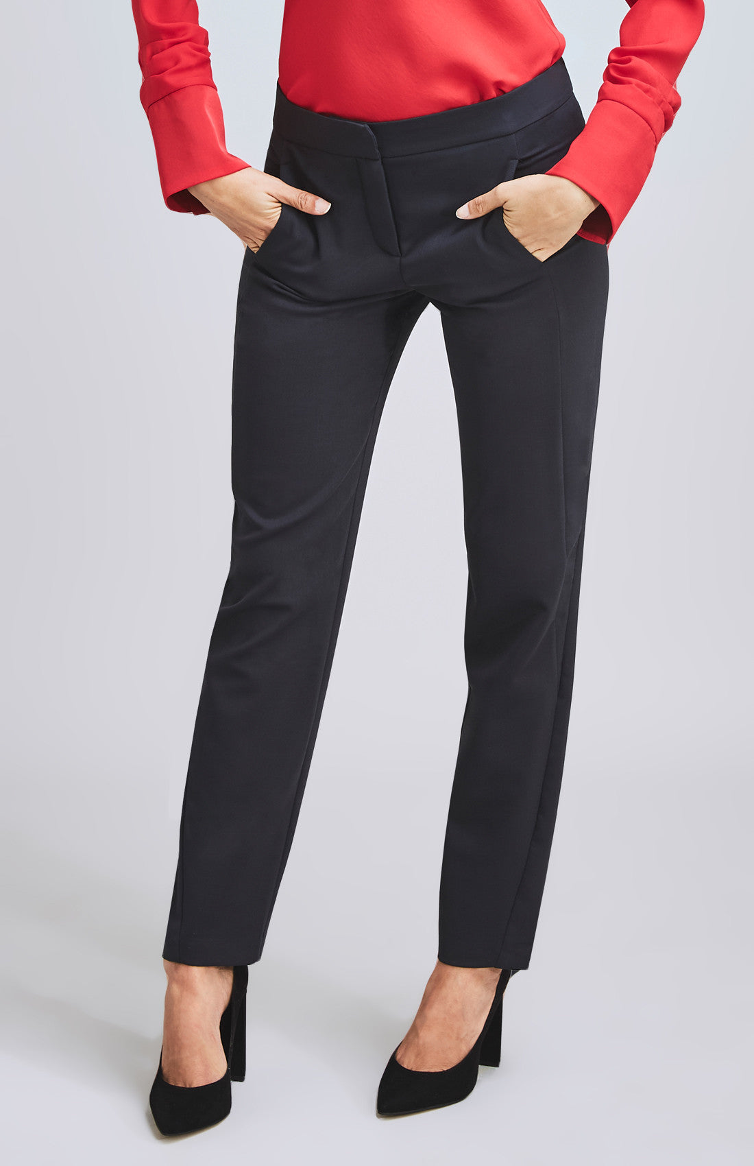 AMBITIOUS TAILORED SLIM-LEG WOOL BLEND SUIT TROUSER CHARCOAL