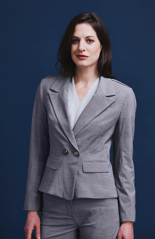 NOBLE CHECK SUIT JACKET