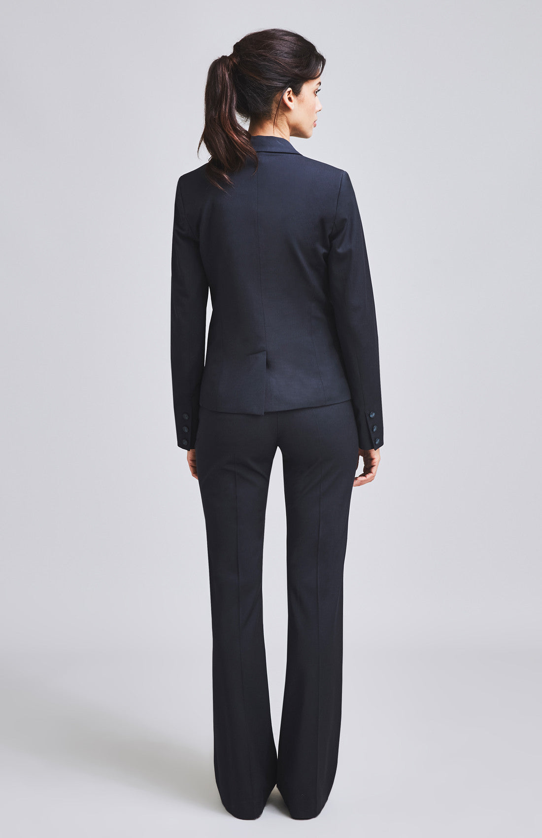 Women's smart trouser suit for the office navy