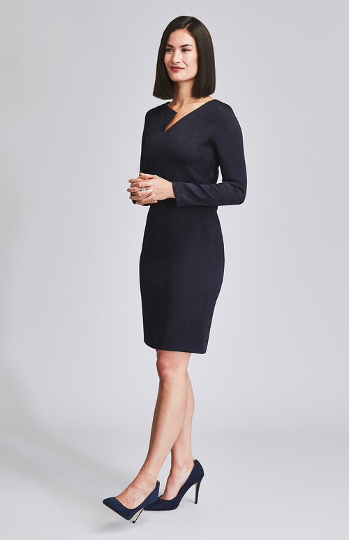 ASSIDUOUS DESK-TO-DINNER DRESS NAVY