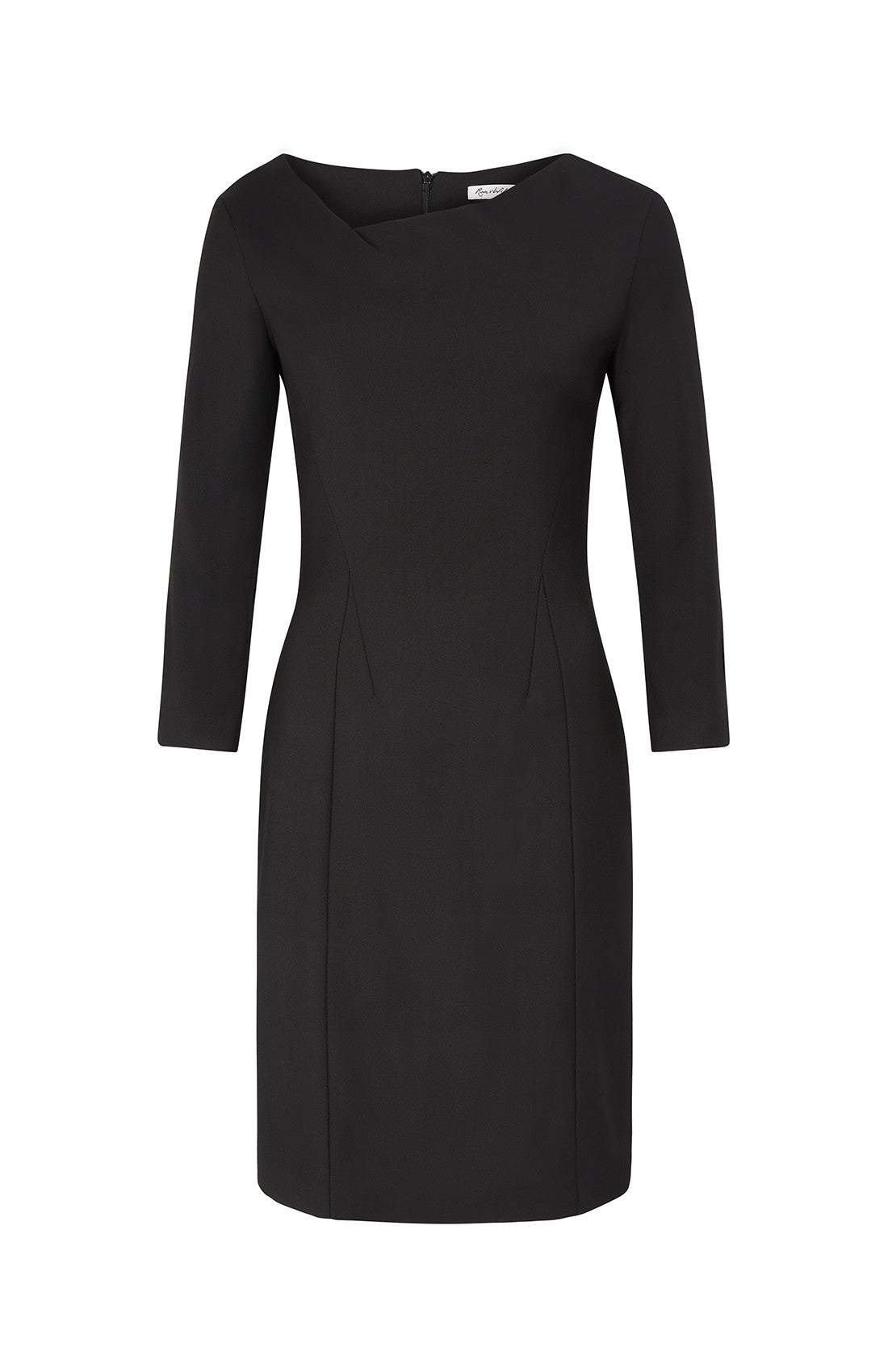 HEROIC TWIST NECKLINE DRESS BLACK