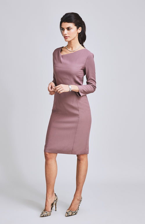 HEROIC TWIST NECKLINE DRESS PINK