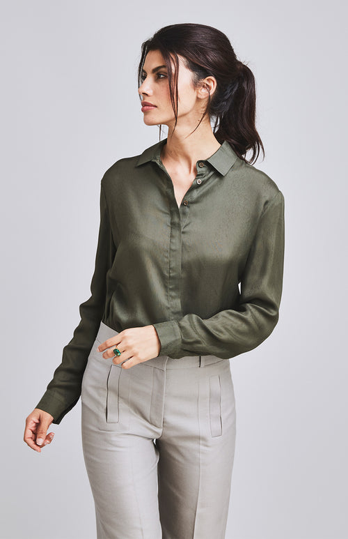 COURAGEOUS TAILORED SHIRT MILITARY GREEN