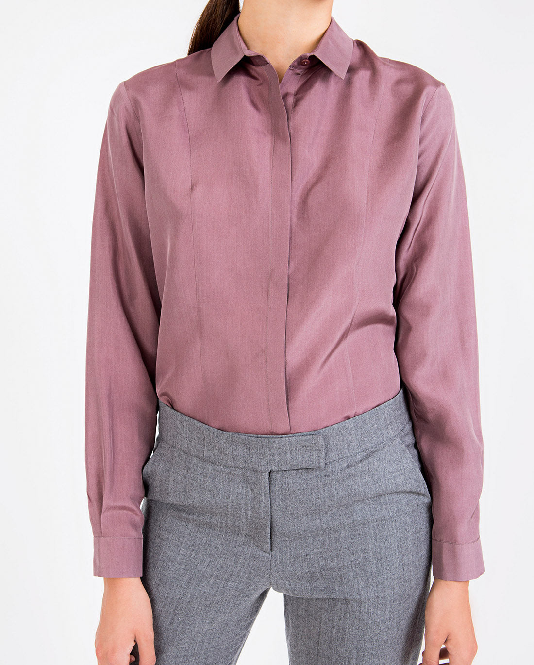 Silk Shirt Dark Pink