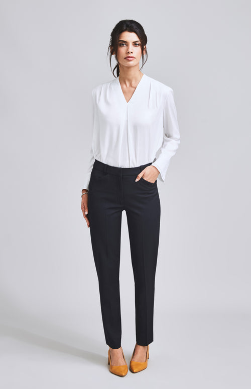 CONFIDENT TAILORED CIGARETTE SUIT TROUSER DARK NAVY