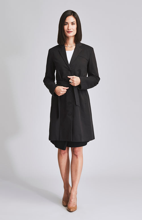 LODESTAR TRENCH COAT BLACK